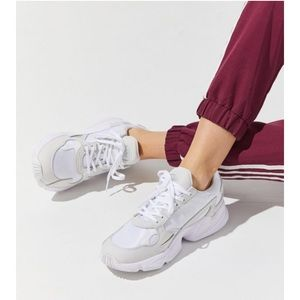 Adidas White Falcon Sneakers for women